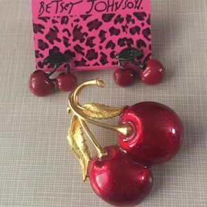 Just in Betsey Johnson cherry Set